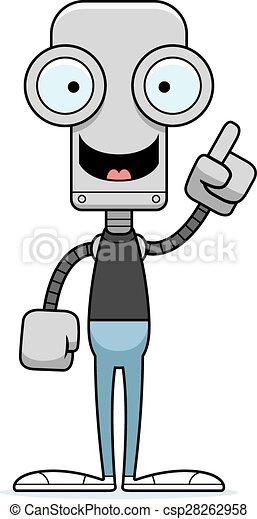 robot, idée, dessin animé - csp28262958