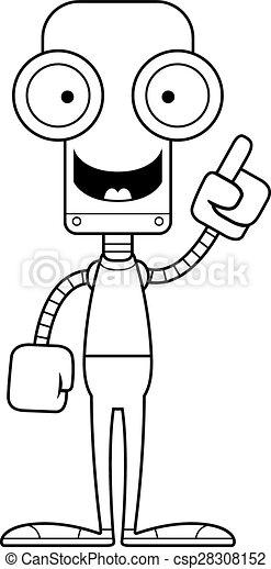 robot, idée, dessin animé - csp28308152