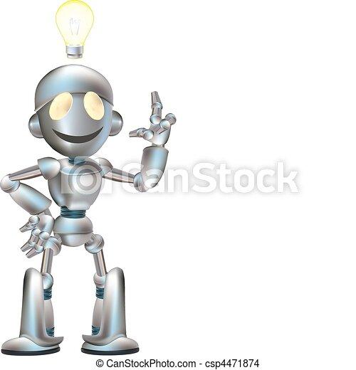 robot, ilustracja, sprytny - csp4471874