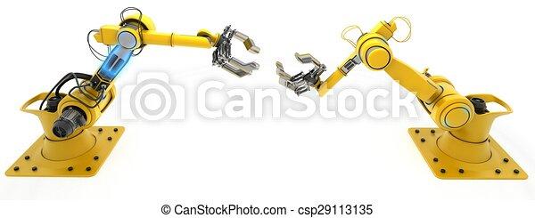 robot industriale, braccio - csp29113135