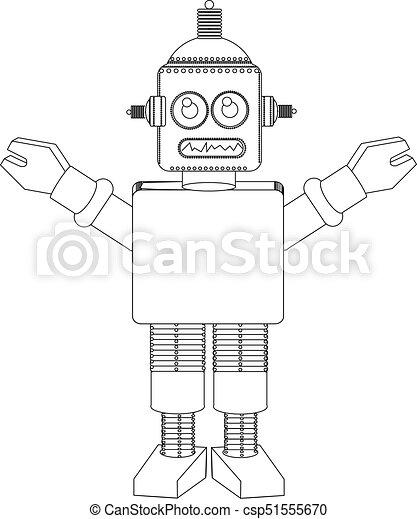 Robot line drawing - csp51555670