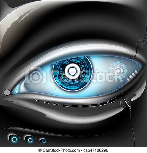 robot., métal, oeil - csp47108296