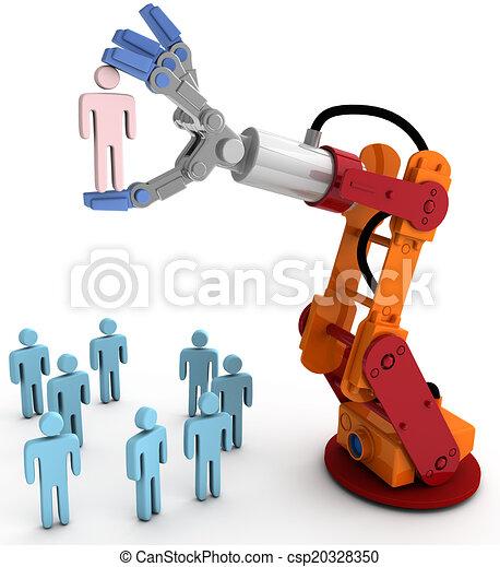 La mano robot elige a la mejor persona - csp20328350