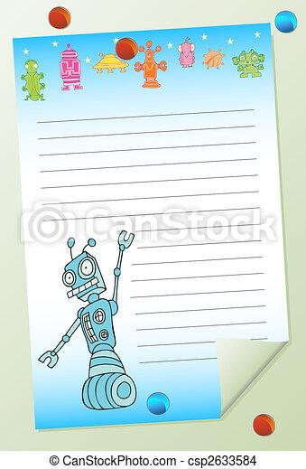 robot notepad - csp2633584