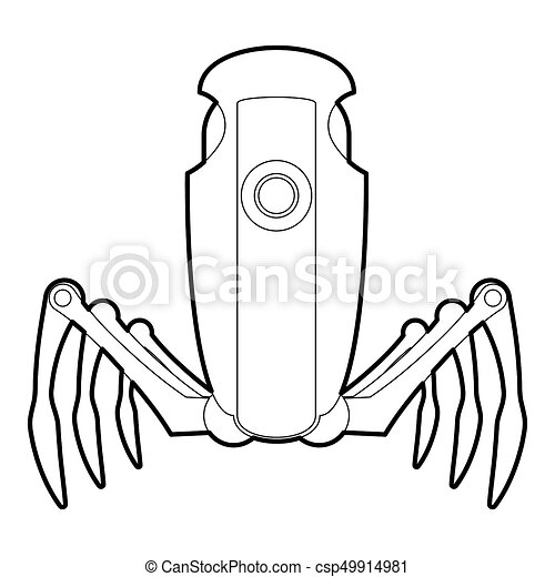 Robot spider icon outline. Robot spider icon in outline ...