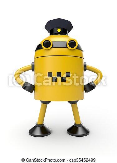 Robot taxi driver - csp35452499