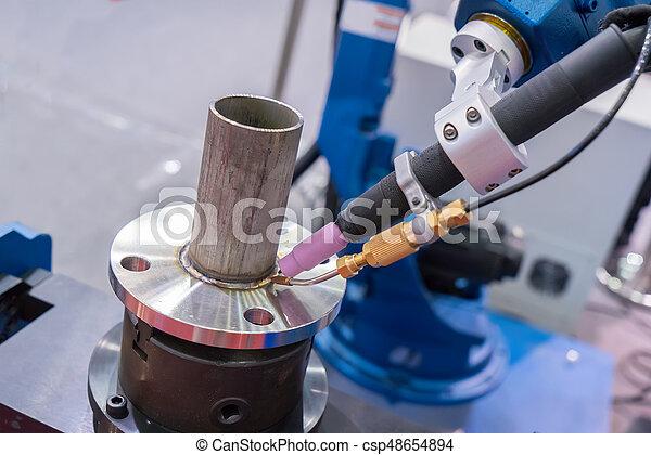 Robot Welding Canstock