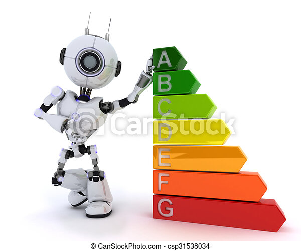 Robot with energy ratings - csp31538034
