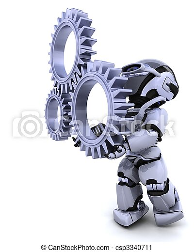 Roboter mit Getriebemechanismus - csp3340711