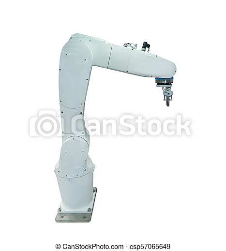 robotic arm for industry isolated on white - csp57065649