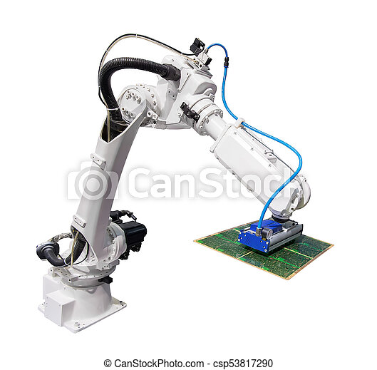 robotic arm for industry isolated on white - csp53817290