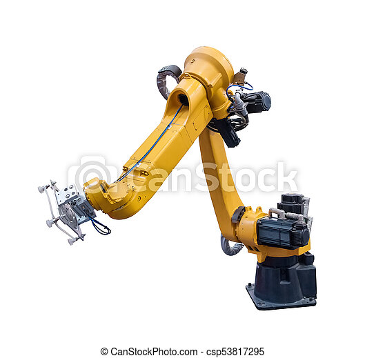 robotic arm for industry isolated on white - csp53817295