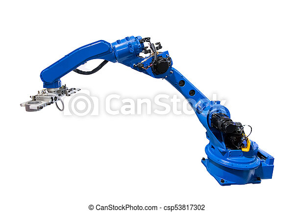 robotic arm for industry isolated on white - csp53817302