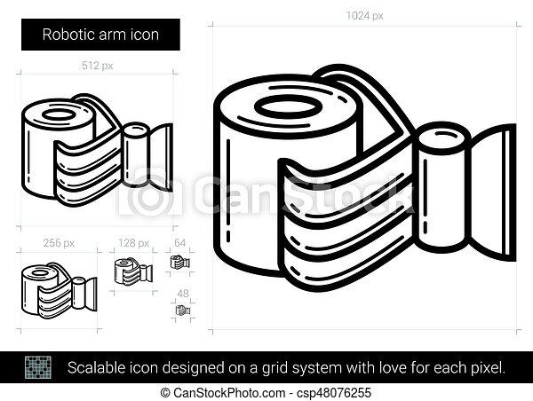 Robotic arm line icon. - csp48076255