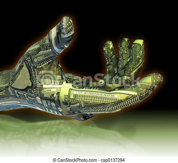 Roboterhand - csp0137294