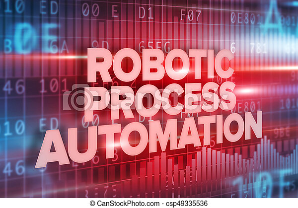 Robotic Process Automation Text Over Interface Screen - csp49335536