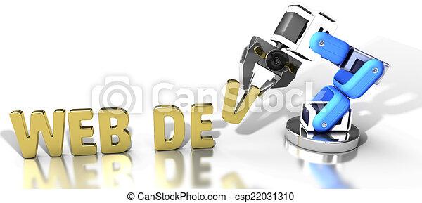 Robotic web development technology - csp22031310