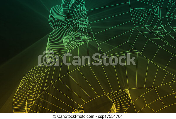 Robotic Wire Mesh Background - csp17554764