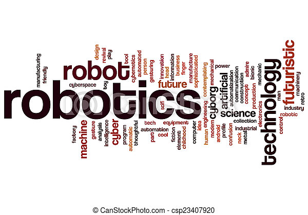 Robotics Word Cloud Concept