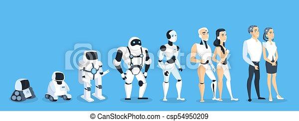 Evolución de robots. - csp54950209