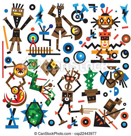 Robots icons set - csp22443977