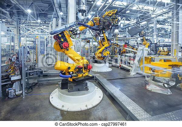 robots in a car plant - csp27997461
