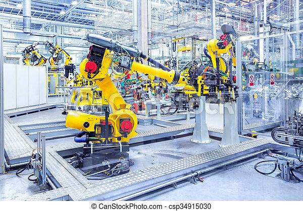 robots in a car plant - csp34915030