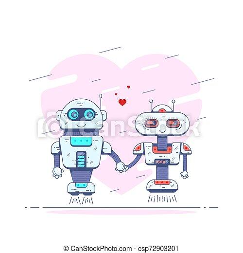 Robots in love - csp72903201