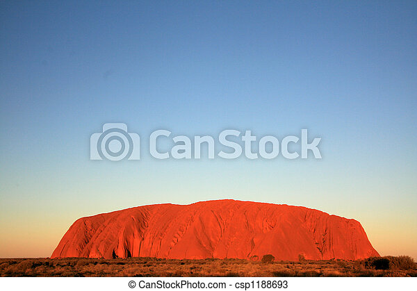 Uluru, ayres rock, australia - csp1188693