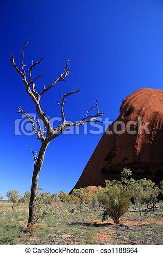 roca, australia, ayres, uluru - csp1188664
