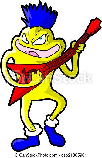 roccia, chitarra - csp21365901