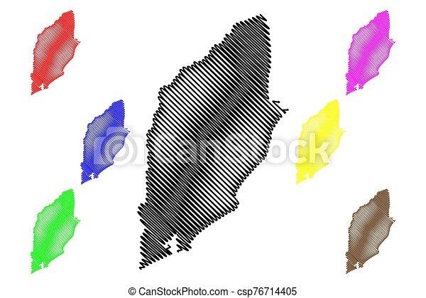 Rocha Department (Departments of Uruguay, Oriental Republic of Uruguay) map vector illustration, scribble sketch Rocha map - csp76714405