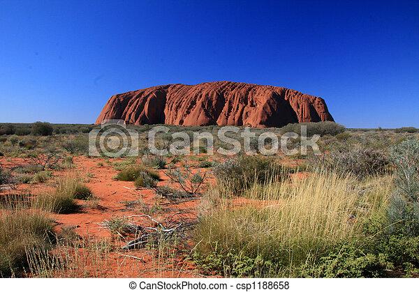 rocher, australie, ayres, uluru - csp1188658