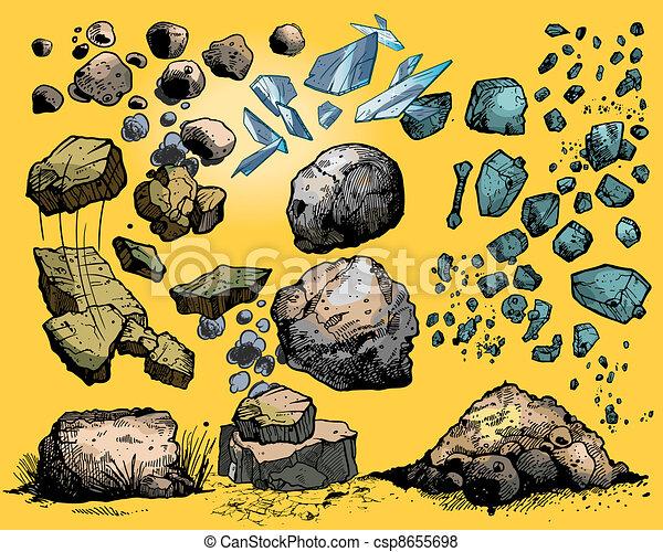 rochers, pierres - csp8655698