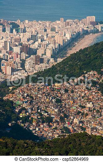 rocinha favela in rio de janeiro biggest slum in south america