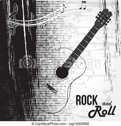 rock and roll design  - csp14300992