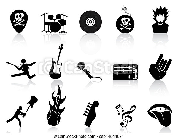 rock and roll music icons - csp14844071