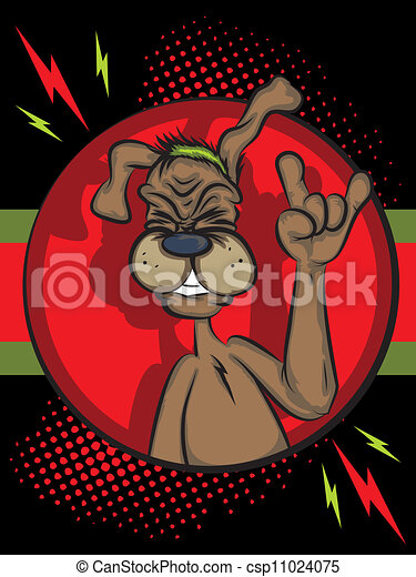 Rock and Roll Puppy - csp11024075