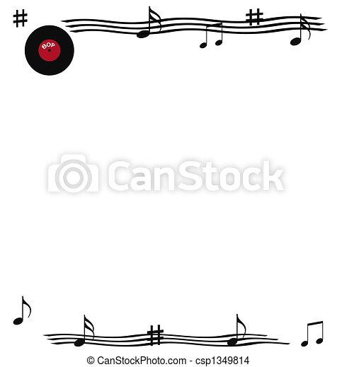 rock and roll scrapbook - csp1349814