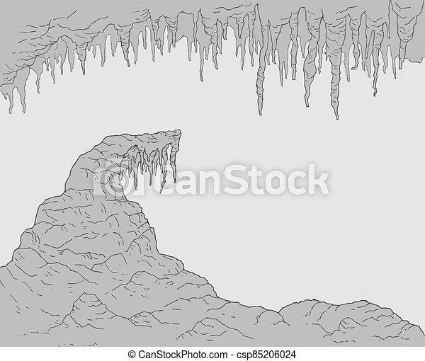 rock cavern background - csp85206024