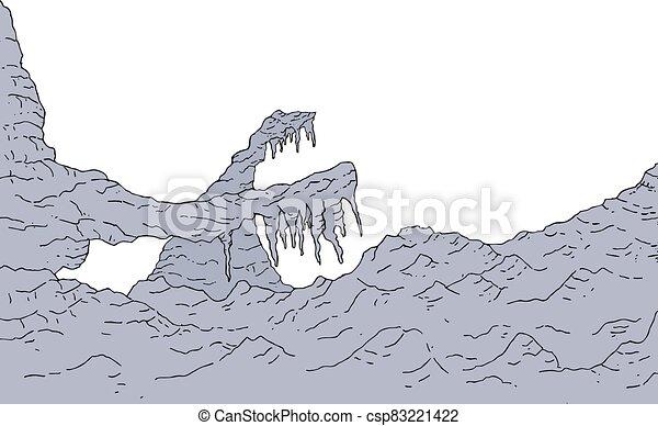 rock cavern zone draw - csp83221422