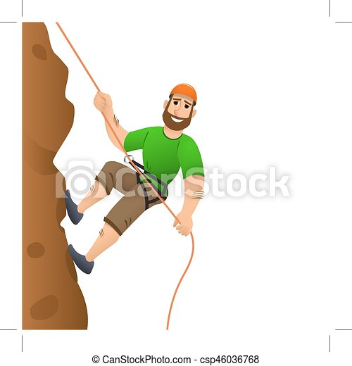 rock climber man commits to rise the steep slope cartoon clip rh canstockphoto com rock climbing clipart black and white rock climbing clipart black and white