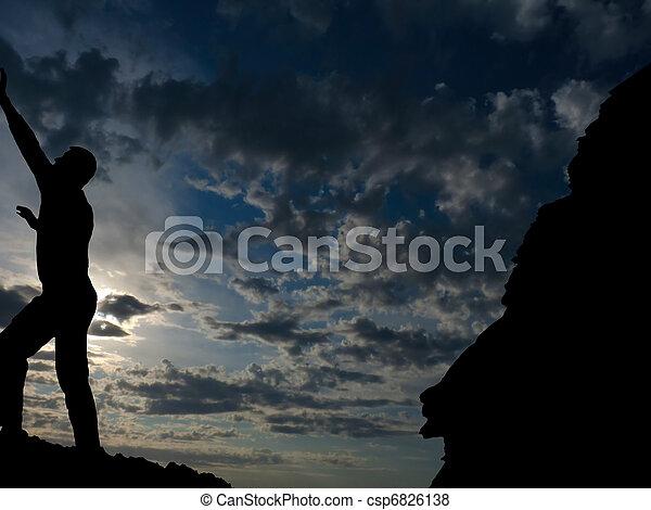 rock climber - csp6826138