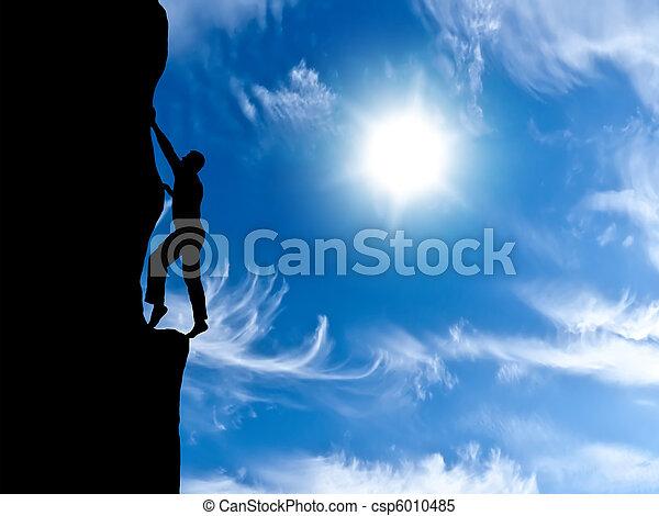 rock climber - csp6010485