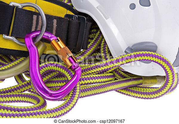 rock climbing equipment - csp12097167