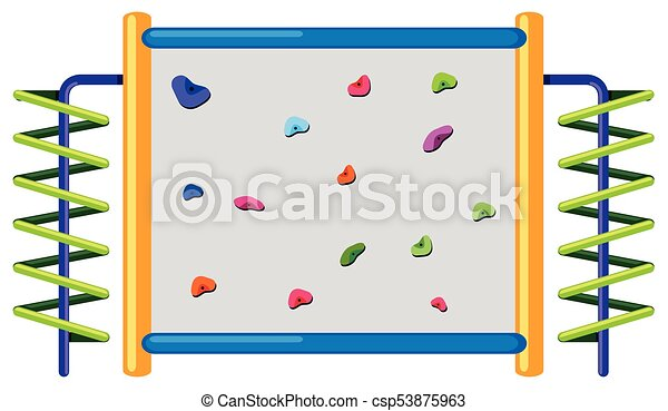 rock climbing wall on white background illustration rh canstockphoto com