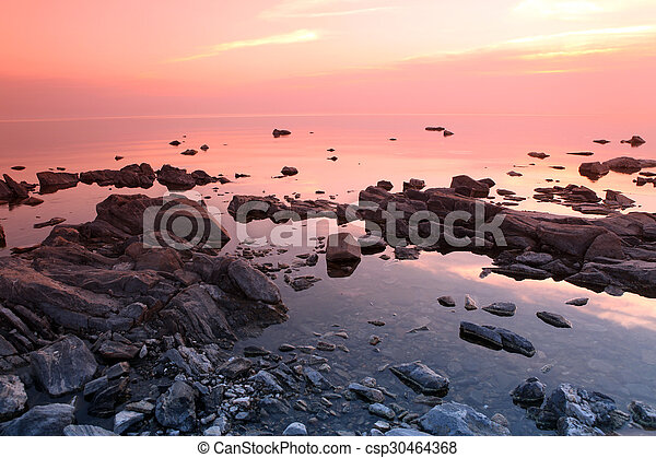 Rock coast, Lake Baikal, Russia - csp30464368