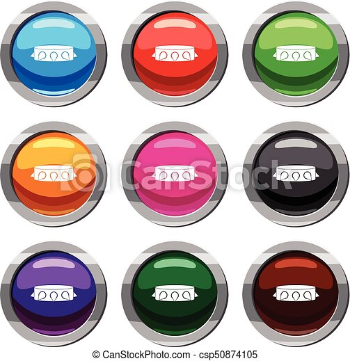 Rock collar set 9 collection - csp50874105