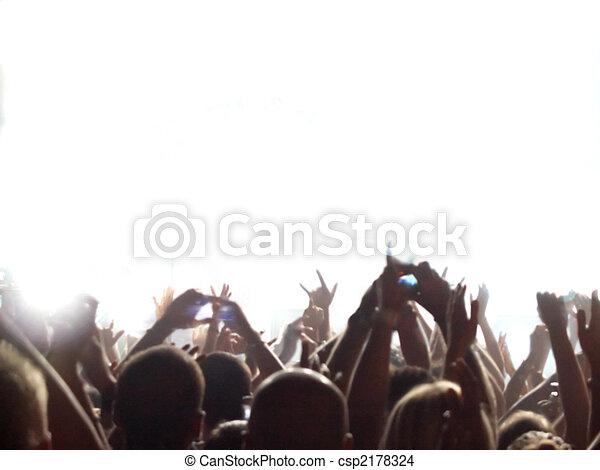Rock concert audience - csp2178324