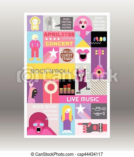 Rock concert poster template rock concert poster template music rock concert poster template csp44434117 maxwellsz